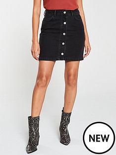 v-by-very-button-front-a-line-mini-skirt-washed-black
