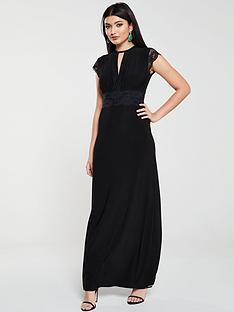 v-by-very-lace-trim-maxi-dress-black