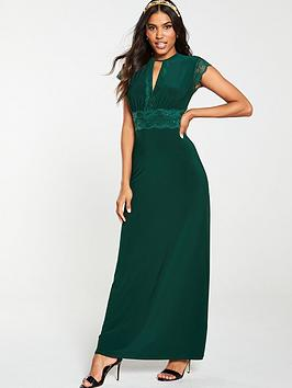 v-by-very-lace-trim-occasion-jersey-maxi-dress-bottle-green