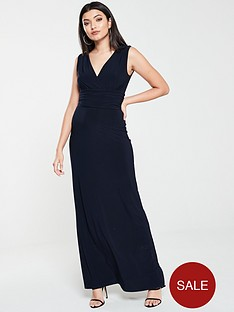 v-by-very-ruched-waist-maxi-dress-navy