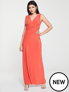 v-by-very-ruched-waist-maxi-dress-burnt-orange