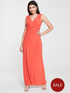 v-by-very-ruched-waist-maxi-dress-burnt-orange