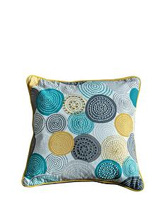 gallery-lagom-orb-printed-circles-cushion-teal-and-ochre