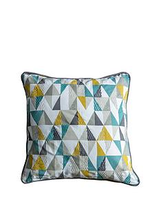 gallery-lagom-scandi-triangle-cushion-teal-and-ochre