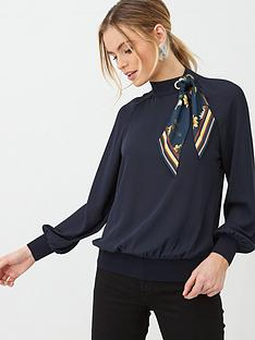 ted-baker-mavey-savanna-scarf-detail-blouse-dark-blue