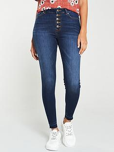 v-by-very-kasi-holding-power-button-front-skinny-jean-dark-indigo
