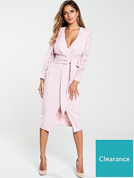 v-by-very-tie-front-scuba-lace-pencil-dress-blush