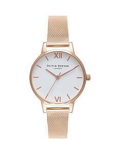olivia-burton-olivia-burton-white-dial-rose-gold-stainless-steel-mesh-strap-ladies-watch