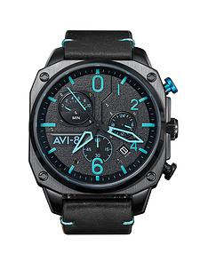 avi-8-avi-8-hawker-hunter-black-and-silver-detail-dial-brown-leather-strap-mens-watch