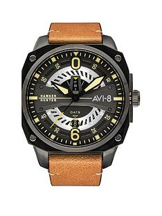 avi-8-avi-8-hawker-harrier-ii-grey-chronograph-dial-grey-leather-strap-mens-watch