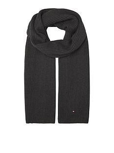 tommy-hilfiger-pima-cotton-scarf-dark-grey