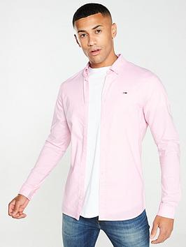 tommy-jeans-long-sleeved-stretch-oxford-shirt-pink