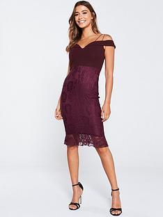 ax-paris-strappy-lace-skirt-frill-hem-dress-plum