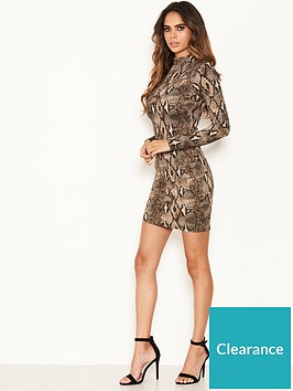ax-paris-petite-ax-paris-petite-grey-snake-print-bodycon-dress