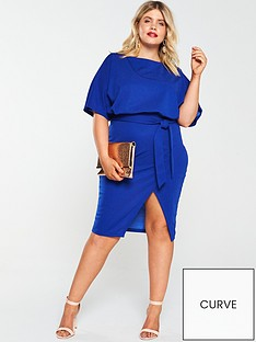 ax-paris-curve-tie-waist-asymmetric-dress-cobalt-blue