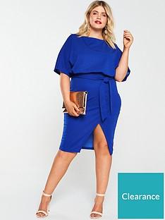 ax-paris-curve-tie-waist-asymmetric-dress-cobalt-blue