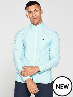 tommy-jeans-classics-oxford-shirt-turquoise