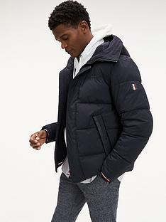 tommy-hilfiger-hooded-padded-bomber-jacket-black