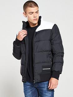 calvin-klein-jeans-padded-western-jacket-blackwhite