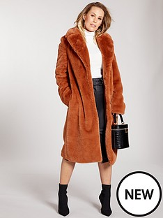kate-wright-premium-longline-faux-fur-coat-spice