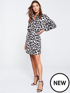 ax-paris-leopard-print-shirt-dress-grey