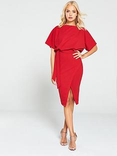 ax-paris-tie-waist-midi-dress-red