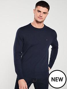 tommy-hilfiger-cotton-cashmere-crew-neck-jumper-navy-blue