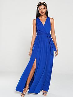 ax-paris-wrap-front-maxi-dress-bluecobalt