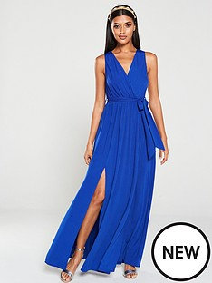 ax-paris-wrap-front-maxi-dress-bluecobalt