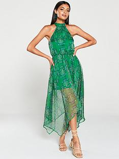 ax-paris-printed-halterneck-midi-dress-green