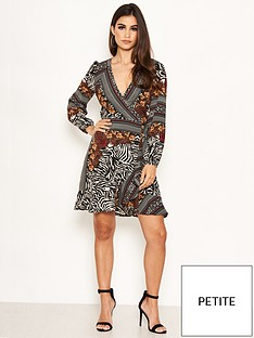 ax-paris-petite-ax-paris-petite-zebra-multi-print-wrap-dress