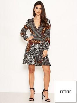 ax-paris-petite-ax-paris-petite-zebra-multi-print-wrap-dress
