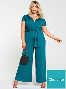 ax-paris-curve-pleat-leg-jumpsuit-teal