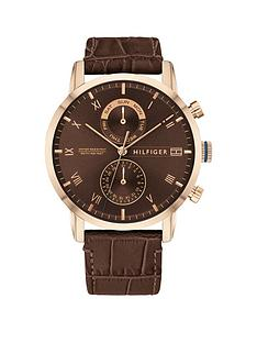tommy-hilfiger-tommy-hilfiger-kane-brown-sunray-and-coronation-gold-detail-chronogrpah-dial-brown-leather-strap-mens-watch
