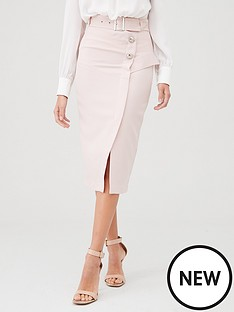 river-island-utility-pencil-skirt-sand
