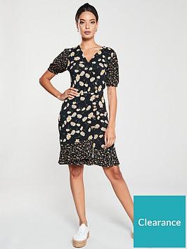 v-by-very-button-through-wrap-dress-blackfloral