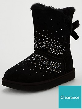 ugg-classic-galaxy-bling-short-calf-boot-black