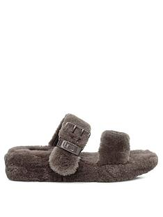 ugg-fuzz-yeah-slippers-charcoal