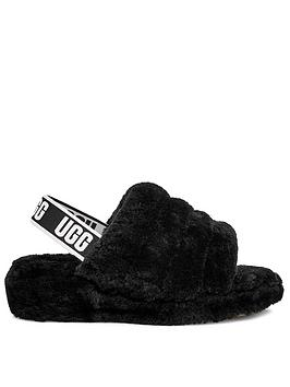 ugg-fluff-yeah-slide-slippers-black
