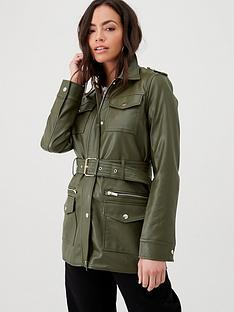 river-island-river-island-faux-leather-utility-jacket--khaki