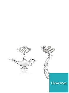disney-disney-aladdin-white-14k-gold-plated-moon-and-genie-lamp-earrings