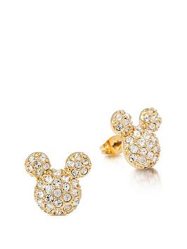disney-disney-14k-gold-plated-pave-crystal-mickey-mouse-stud-earrings