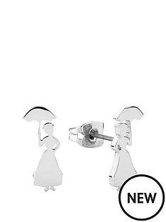 disney-disney-mary-poppins-14k-white-gold-plated-silhouette-stud-earrings