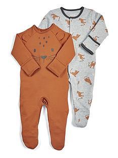 mamas-papas-baby-boys-2-pack-leopard-sleepsuits-multi