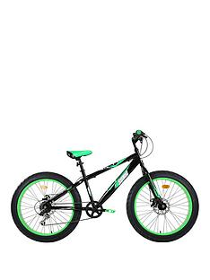 sonic-fatbike-24-6-speed-bike-blackgreen