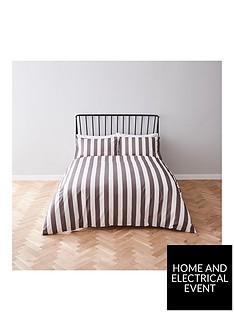 river-island-grey-stripe-print-duvet-cover-set