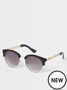 river-island-river-island-chain-trim-sunglasses-black