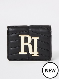 river-island-river-island-quilted-branded-purse-black