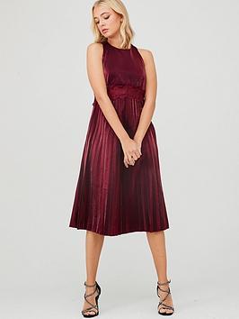 little-mistress-shine-lace-trim-midi-dress-red
