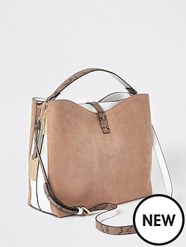 a7b557d6 River Island Slouch Bucket Bag - Beige. 6 people have looked at this in the  last couple of hrs.